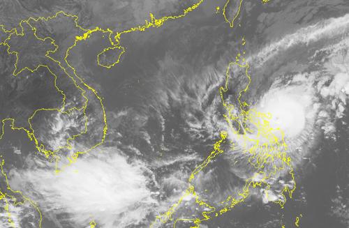 Hình ảnh mây vệ tinh của bão Nock-ten - Ảnh: Trung tâm Dự báo khí tượng thủy văn trung ương