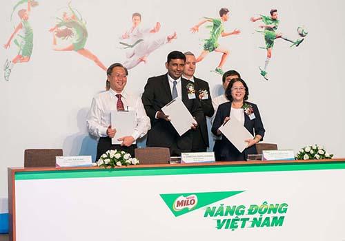 Ký kết biên bản ghi nhớ giữa Nestlé Việt Nam với Sở Văn hóa và Thể thao, Sở Giáo dục và Đào tạo TP HCM
