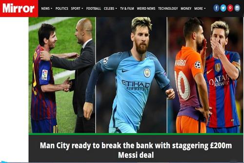 Sunday Mirror thông tin về dự định của Man City