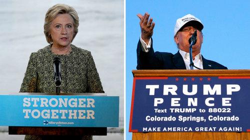 """Chính sách thương mại của cả 2 ứng cử viên tổng thống Hillary Clinton và Donald Trump đều """"gây thiệt hại cho nước Mỹ"""" Ảnh: AP"""