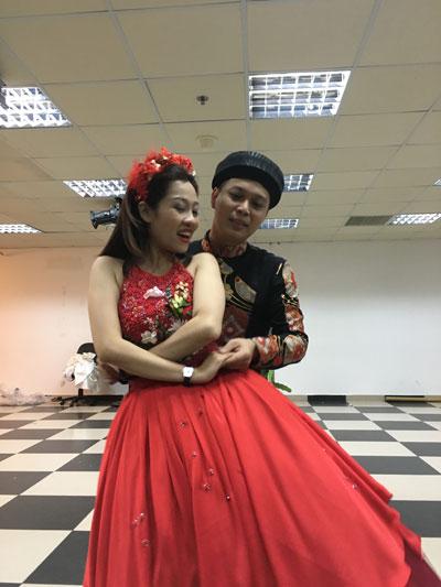 Nam Khánh tích cực tập luyện cùng bạn diễn cho vai Từ Thức