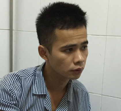 Bế Ích Thi, nghi phạm vụ làm chết người rồi chặt xác phi tang ở Cao Bằng, sau khi bị bắt giữ tại cơ quan công an - Ảnh: CAND