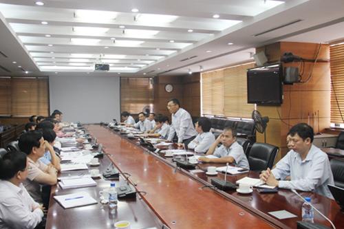 Phó Tổng Thanh tra Chính phủ Ngô Văn Khánh phát biểu tại buổi công bố quyết định thanh tra Tổng công ty Cổ phần Xây lắp dầu khí (PVC) chiều 6-10 - Ảnh: Thanh tra