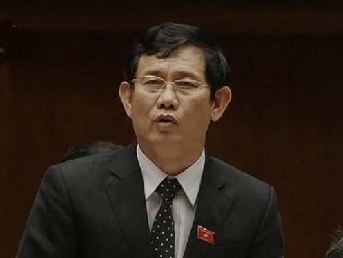 Đại biểu Nguyễn Ngọc Phương (Quảng Bình) chất vấn Bộ trưởng TN-MT Trần Hồng Hà - Ảnh chụp qua màn hình