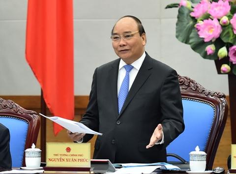 Thủ tướng Nguyễn Xuân Phúc: Lãnh đạo các cấp, các ngành, địa phương phải vượt qua được lợi ích cục bộ, tư duy nhiệm kỳ… thì mới thực hiện thành công tái cơ cấu nền kinh tế - Ảnh: VGP