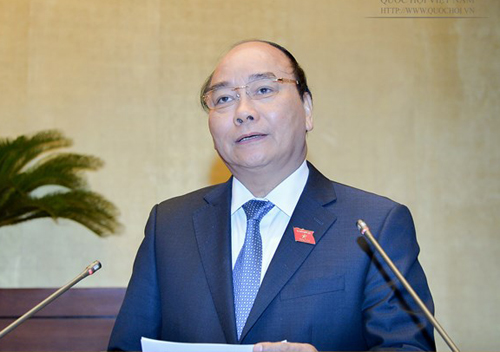 Sáng nay 17-11, Thủ tướng Nguyễn Xuân Phúc trực tiếp trả lời chất vấn - Ảnh: Quochoi.vn
