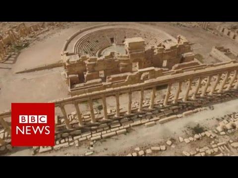 Quang cảnh bên trong TP Palmyra sau khi IS bị đánh đuổi khỏi đó hồi tháng 3 năm nay. Ảnh: BBC
