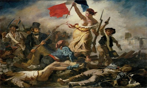 Bức tranh Nữ thần Tự do dẫn dắt nhân dân của Eugene Delacroix. Ảnh: National Geographic.