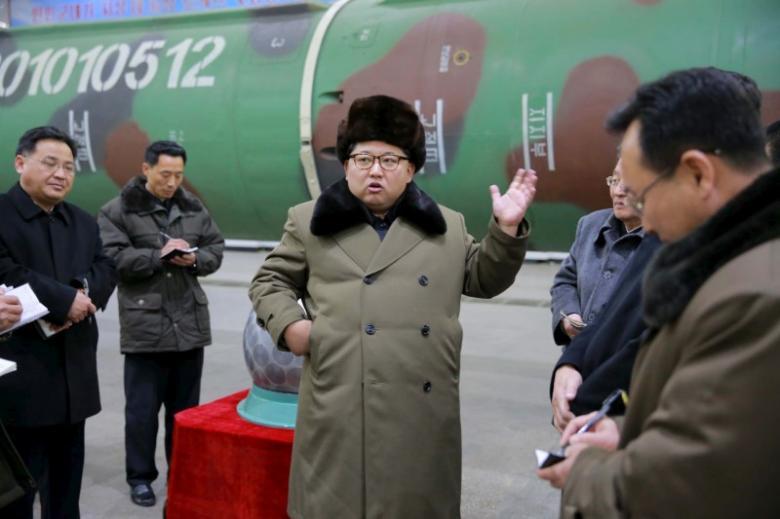 Nhà lãnh đạo Kim Jong-un nhiều lần khẳng định hạt nhân là con đường mà Triều Tiên sẽ đi. Ảnh: Reuters