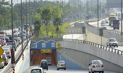 Đường hầm SMART Tunnel ở Kuala Lumpur. Ảnh: Amusing Planet.