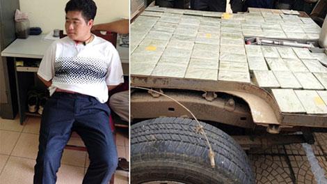 Tàng Keangnam và lượng ma túy khủng được cơ quan Công an thu giữ trên 2 xe ô tô của Tàng.