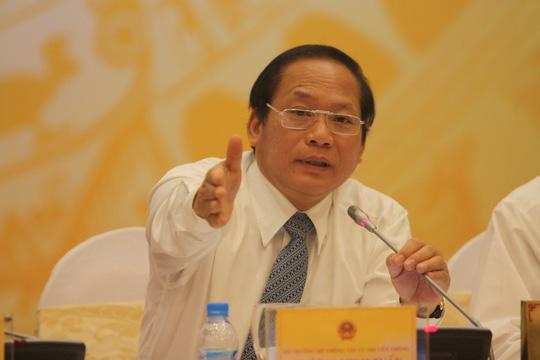 Bộ trưởng rương Minh Tuấn cho biết có dấu hiệu câu kết bất lương để bêu xấu nước mắm có asen độc hại-Ảnh: Nguyễn Nam