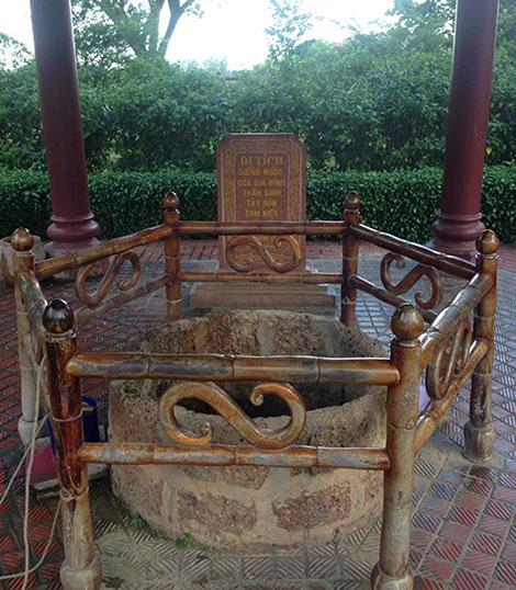 Giếng nước ở Bảo tàng Quang Trung.