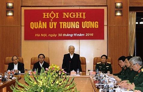 Tổng Bí thư Nguyễn Phú Trọng phát biểu tại Hội nghị Quân ủy Trung ương