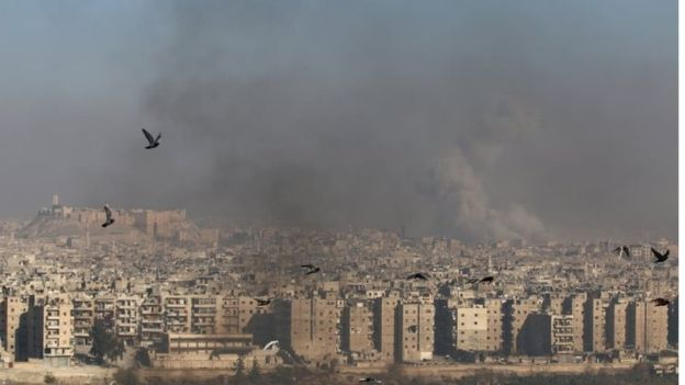 Phía Đông Aleppo bị quân chính phủ Syria bao vây từ tháng 7. Ảnh: Reuters