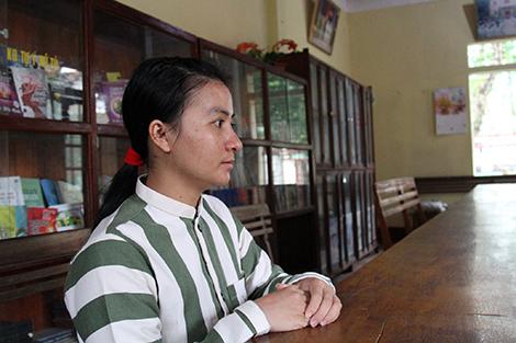Một năm qua, phạm nhân Ngô Thị Hiền luôn dằn vặt, ân hận về hành vi phạm tội của mình.