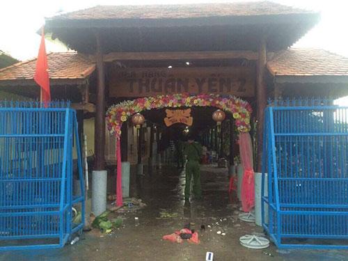 Nhà hàng tiệc cưới nơi xảy ra vụ việc