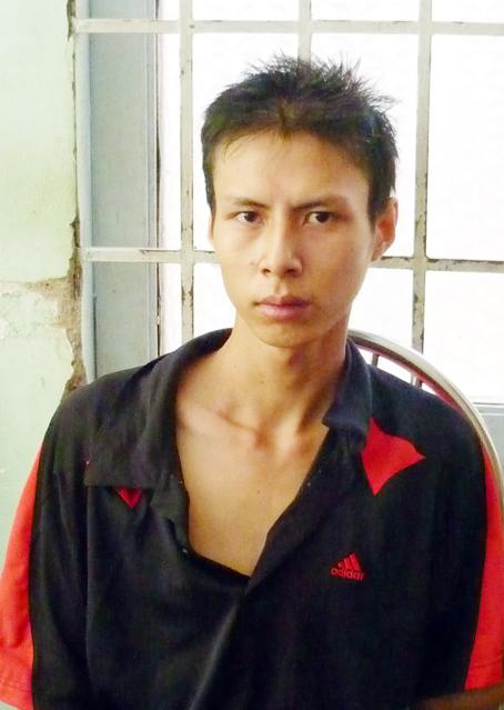 Trần Mạnh Luân khi mới bị bắt.