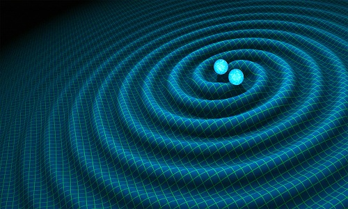 Sóng hấp dẫn là kết quả từ hai siêu lỗ đen va vào nhau. Ảnh: NASA.