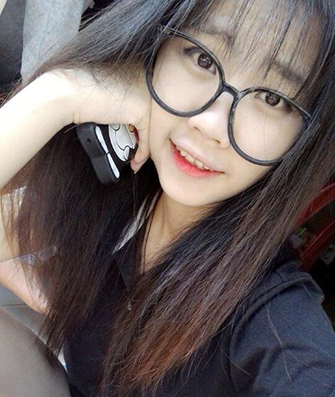 Hot girl Văn Kiều Thiên Ngân lúc chưa gây án.