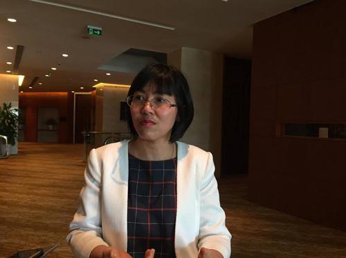 Bà Hoàng Tú Anh, Giám đốc Trung tâm Sáng kiến, sức khỏe và dân số.
