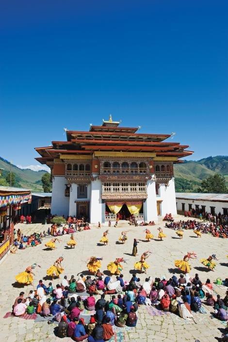 Thung lũng Gangtey ở Bhutan - Ảnh: National Geographic