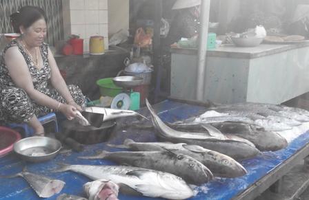 Ở chợ hải sản này nhiều nhất vẫn là các loại cá biển