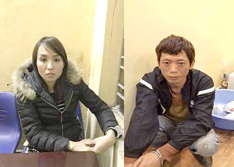 Cặp đôi sản xuất ma túy vừa bị bắt giữ.