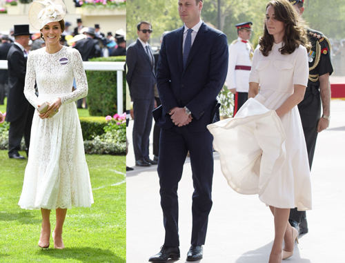 Diện váy trắng đẹp mê hồn như Công nương Kate