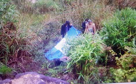 Vị trí các đối tượng bắt giữ chị Trần Minh Bảo T tại đèo Khánh Vĩnh.