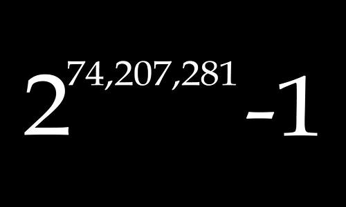 Số nguyên tố lớn nhất bao gồm 24 triệu chữ số. Ảnh: Wbur.