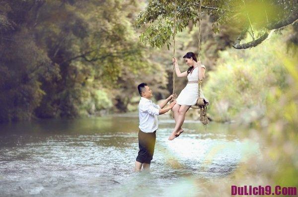 Chụp ảnh cưới đẹp ở Sài Gòn – khu du lịch Suối Mơ