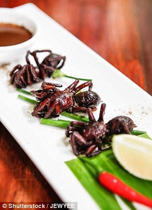 Ở Campuchia, món nhện chiên, khiến du khách lần đầu nhìn thấy đã phải thét lên vì sợ hãi…
