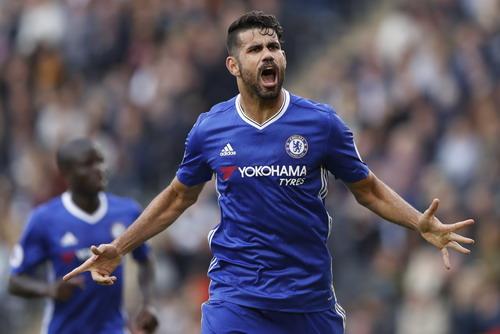 Diego Costa ghi bàn thứ nhì với góc sút tương tự