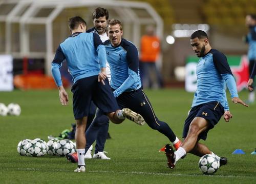 Tottenham tích cực tập luyện trước cuộc đối đầu với Monaco
