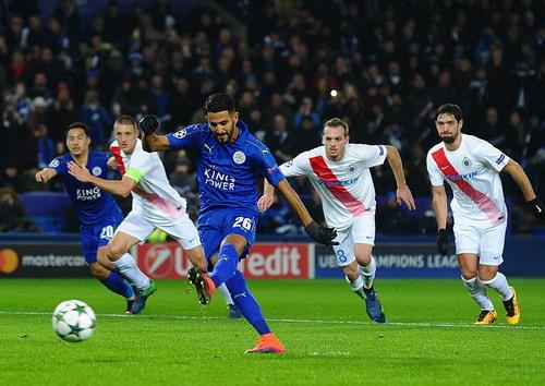 Riyad Mahrez sút thắng phạt đền, nhấn chìm Club Brugge