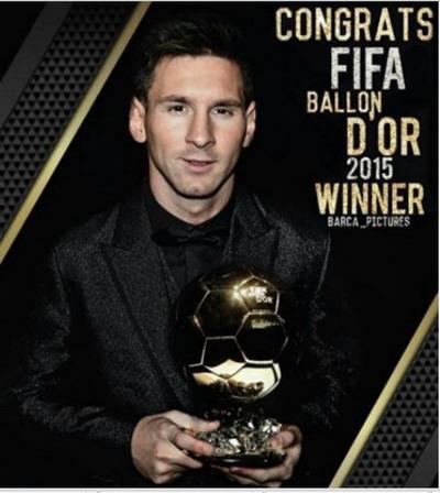 Messi - chủ nhân Quả bóng vàng FIFA cuối cùng (2015)