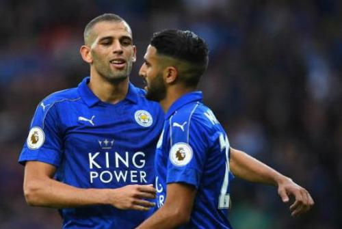 Slimani sát cánh cùng Mahrez trước hàng thủ Chelsea tối 15-10