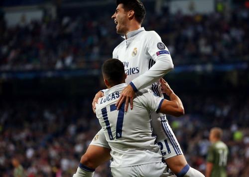 Vasquez và Morata ghi hai bàn ở cuối trận