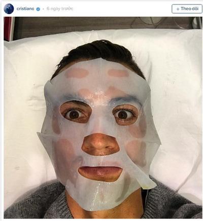 Ronaldo và liệu trình chăm sóc da mặt