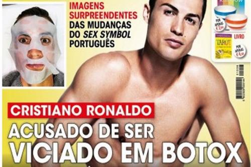 Hình ảnh Ronaldo chăm sóc sắc đẹp trên bìa tạp chí VIP