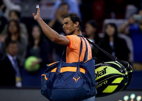 Nỗi thất vọng trên gương mặt Nadal sau trận đấu