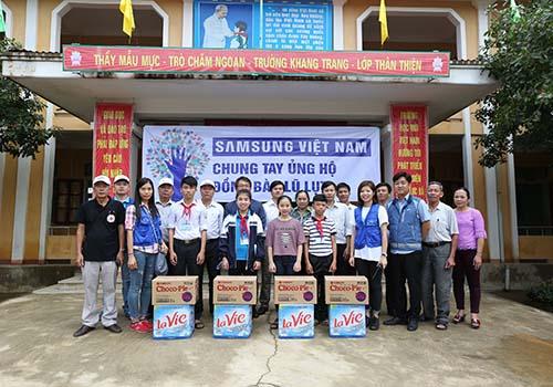 Samsung Việt Nam chung tay cùng đồng bào miền Trung