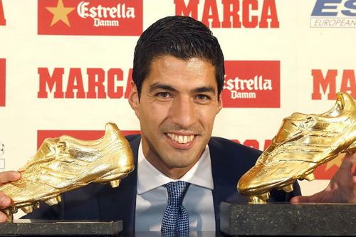 Luis Suarez được tôn vinh tại châu Âu