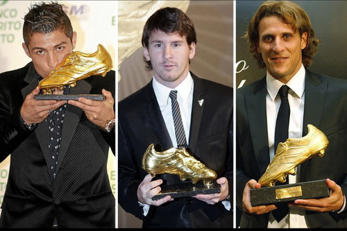 Ronaldo, Messi và Forlan chia nhau 7 danh hiệu
