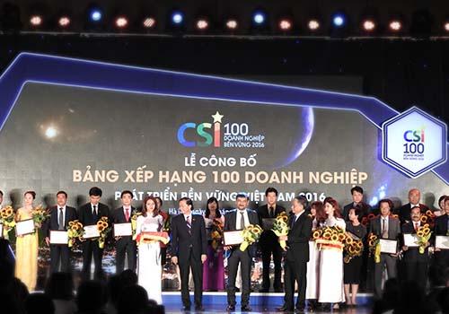 Suntory PepsiCo Việt Nam trong Top 100 doanh nghiệp bền vững