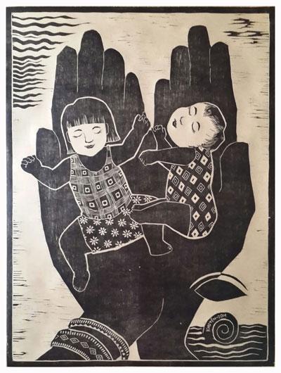 """Tác phẩm """"Tay mẹ"""" của Nguyễn Thị Khuyên"""