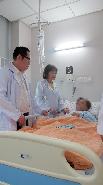Sức khỏe bà U. đang bình phục sau khi được cắt bỏ u.