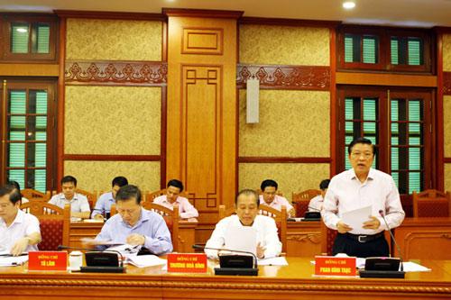 Các thành viên Ban Chỉ đạo trung ương về phòng chống tham nhũng tại cuộc họp ngày 1-10 - Ảnh: Nội chính