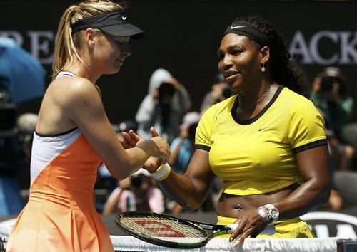 Sharapova luôn thua Serena Williams ở mọi giải đấu và cuộc đua đến ngôi số 1